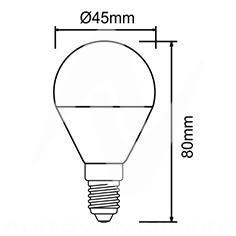 costo lampadina h : Lampadina LED 4 W tonda 830 - Lampadina LED tonda dimensioni